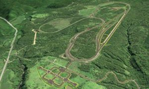 Ariel view of Subaru's test tracks