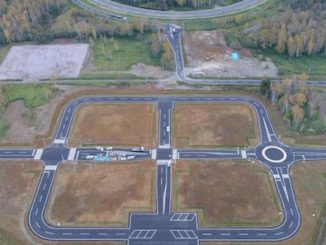 Ariel view of Subaru's new test tracks.
